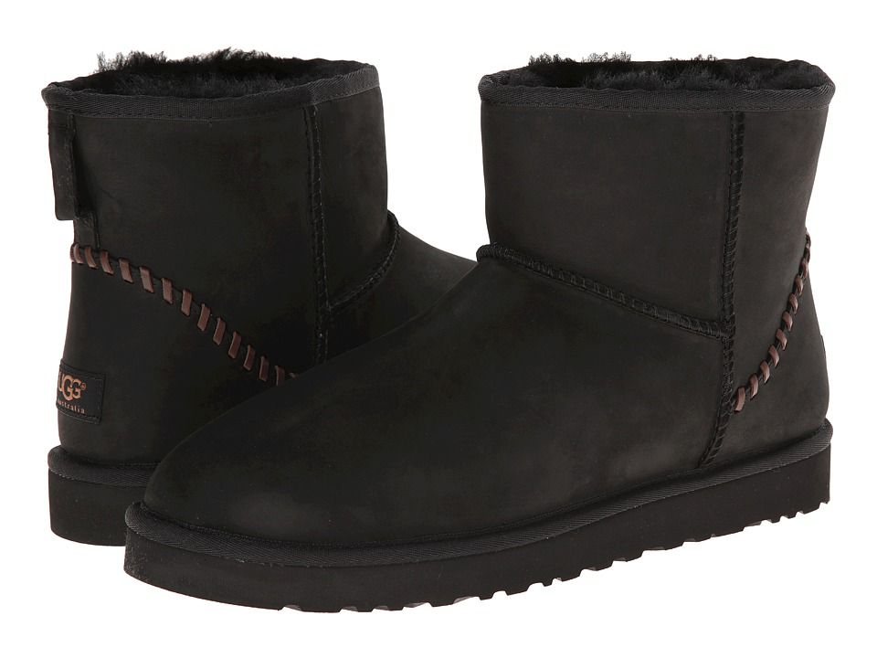 UGG UGG - CLASSIC MINI DECO (BLACK LEATHER) MEN'S BOOTS. #ugg #