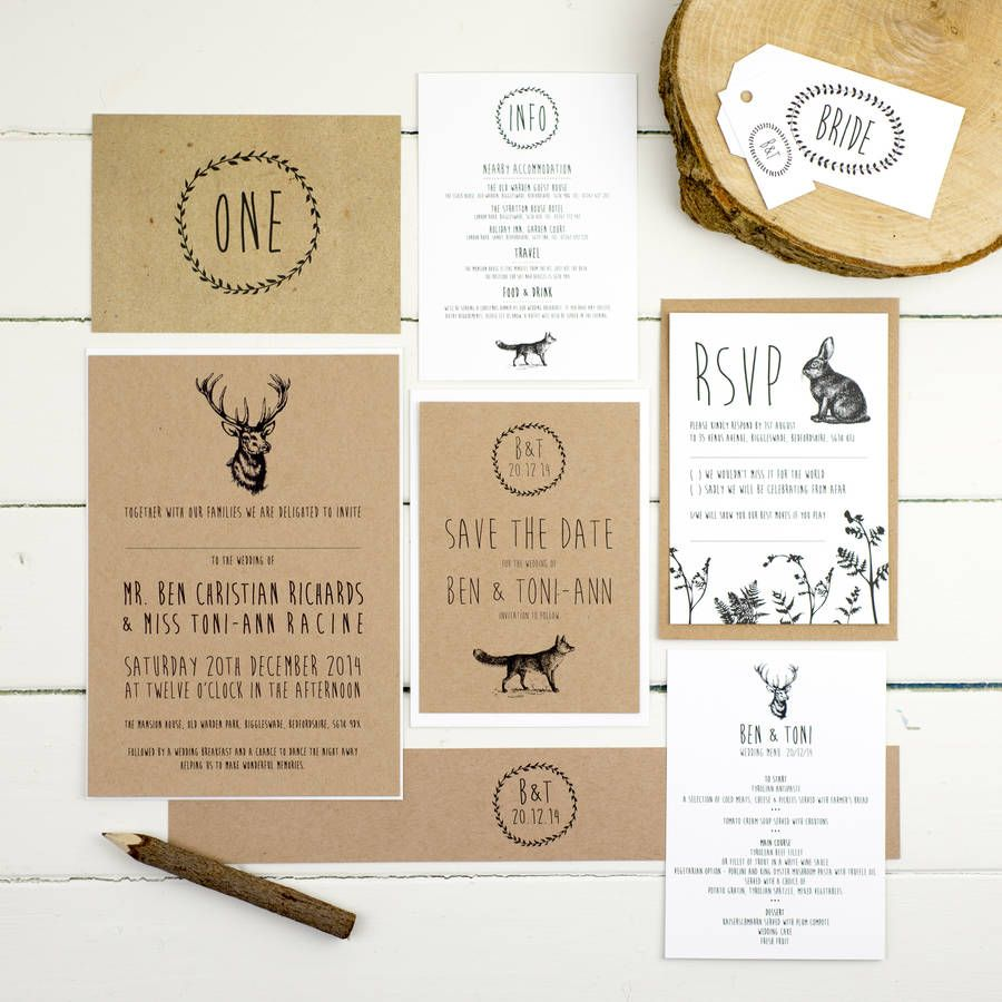 Enchanted Forest Wedding Invitation Forest Wedding Invitations