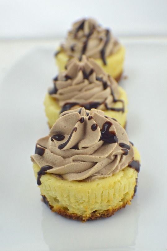 Really nice recipes. Every hour.  MACARON CRUST + MINI CHEESECAKES WITH CHOCOLATE WHIPPED CREAM