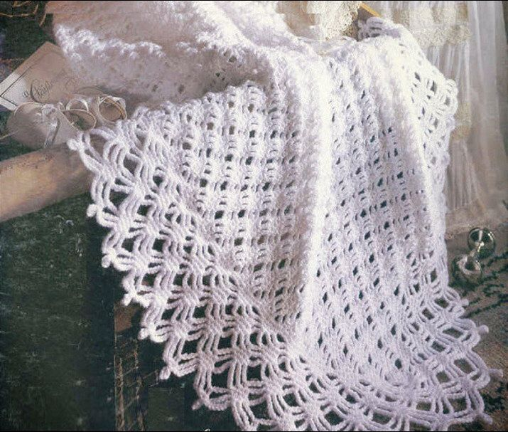 Instant Pdf Download Vintage Crochet Pattern To Make A Lacy Diamonds
