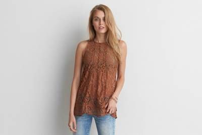 AEO Lace-Up Back Tank by  American Eagle Outfitters |  Shop the AEO Lace-Up Back Tank and check out more at AE.com.