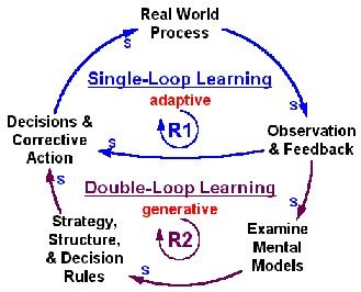 Double Loop Learning - we don't learn without feedback