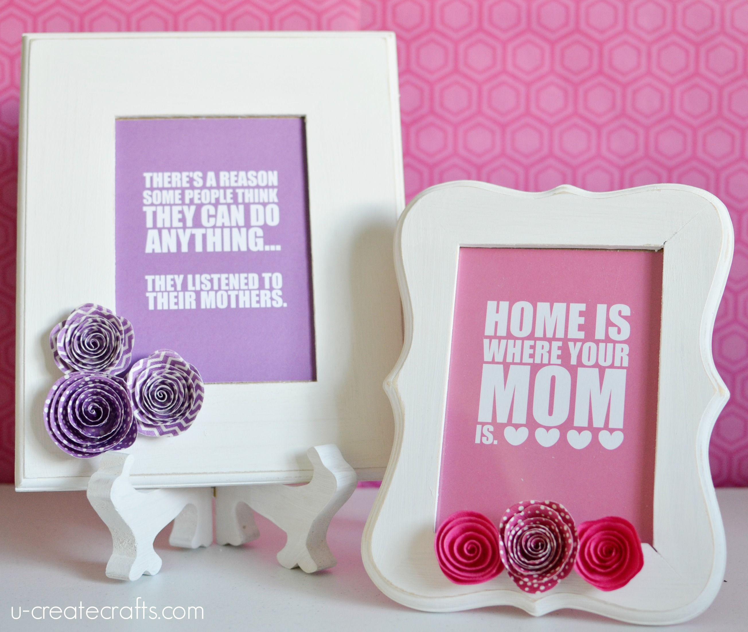 Diy Mother S Day Frames Mother S Day Diy Diy Mother S Day