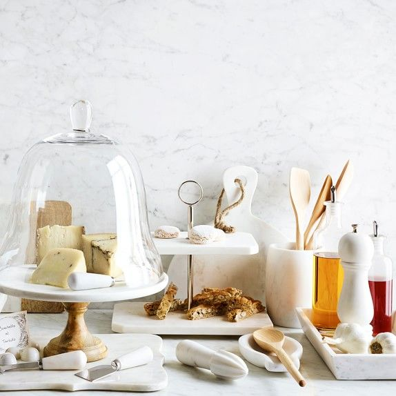 Two For Tuesday Marble Accessories For The Kitchenwhite: LOVE This Marble-everything Collection! ️ #whitekitchen
