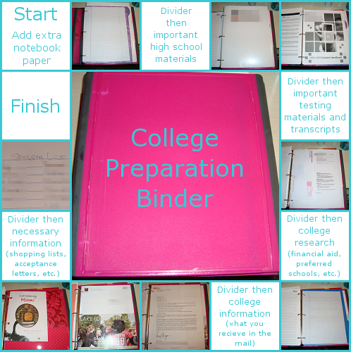 The Craft House: How To: College Preparation Binder