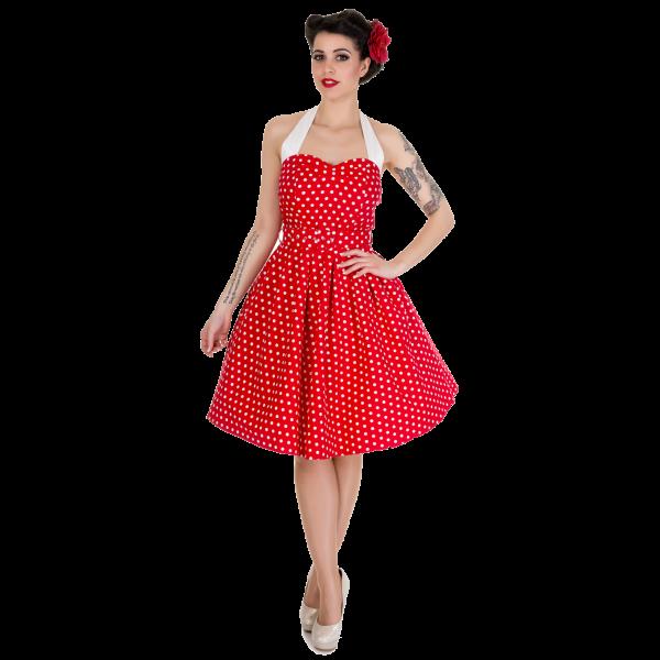 02fc5b7df624 Retro šaty Dolly and Dotty Sophie Red White Polka Puntíkaté krásky ...