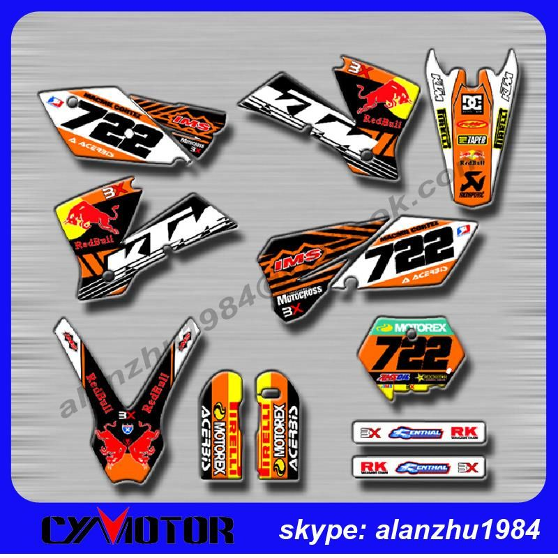 Motorcycle Bull 3m 722 Graphics Background Decals Stickers Kits