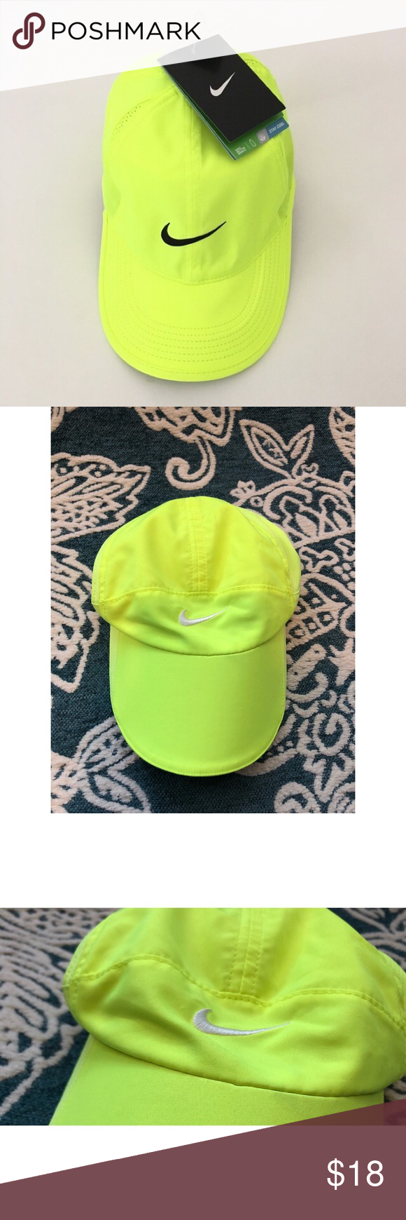 Nike Neon Featherlight Hat Nike Neon Nike Accessories Clothes Design