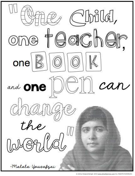 Malala Yousafzai Classroom Activities Com Imagens Atividades