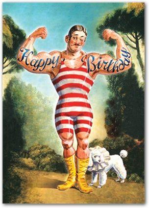 Afbeeldingen Verjaardag Vrouw Retro.Happy Birthday Strong Man Verjaardag Vintage