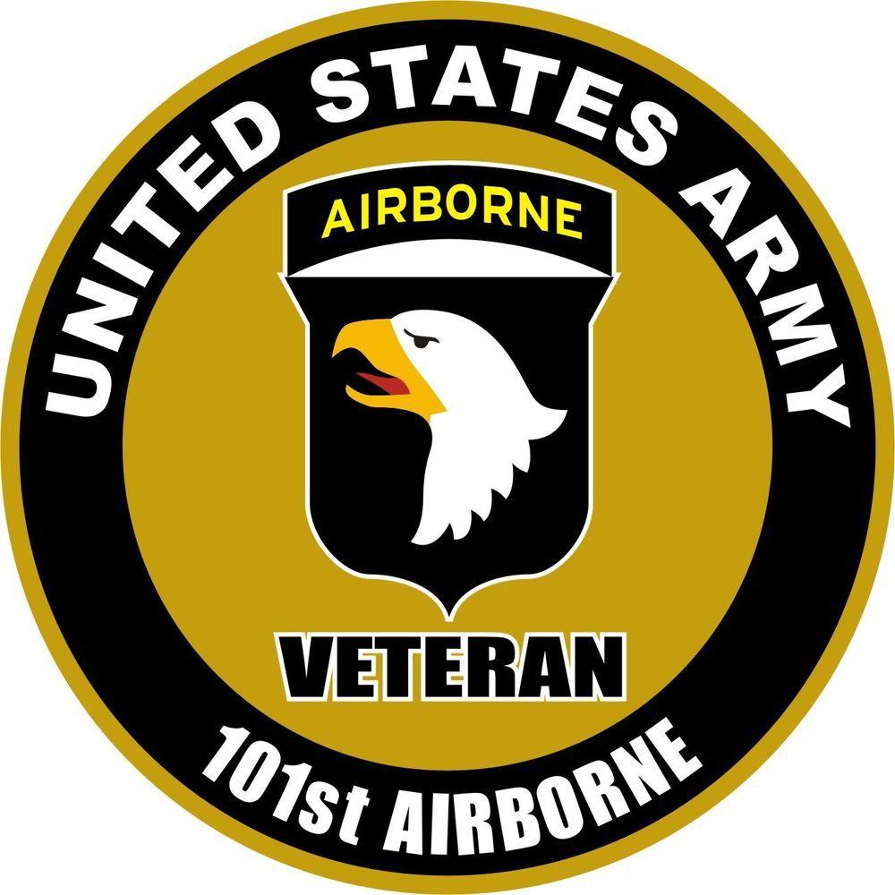 UNITED STATES Army Veteran 101st Airborne Decal Window