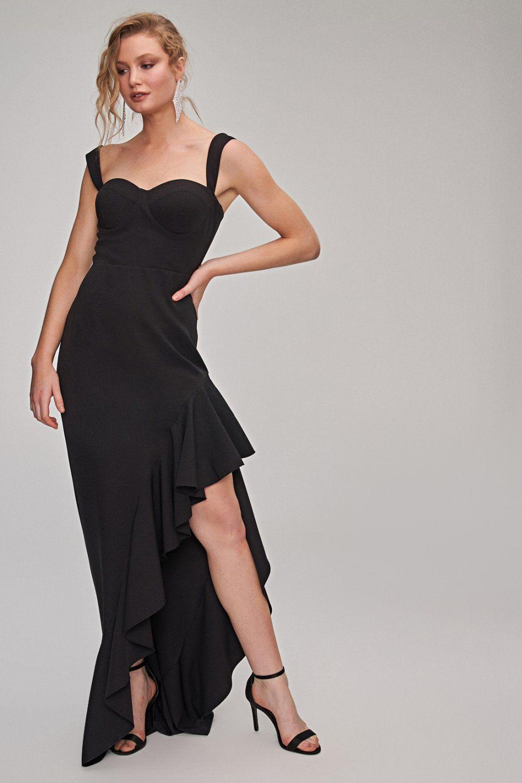 People By Fabrika Askili Uzun Asimetrik Abiye Elbise Elbisebul Elbise The Dress Moda Stilleri