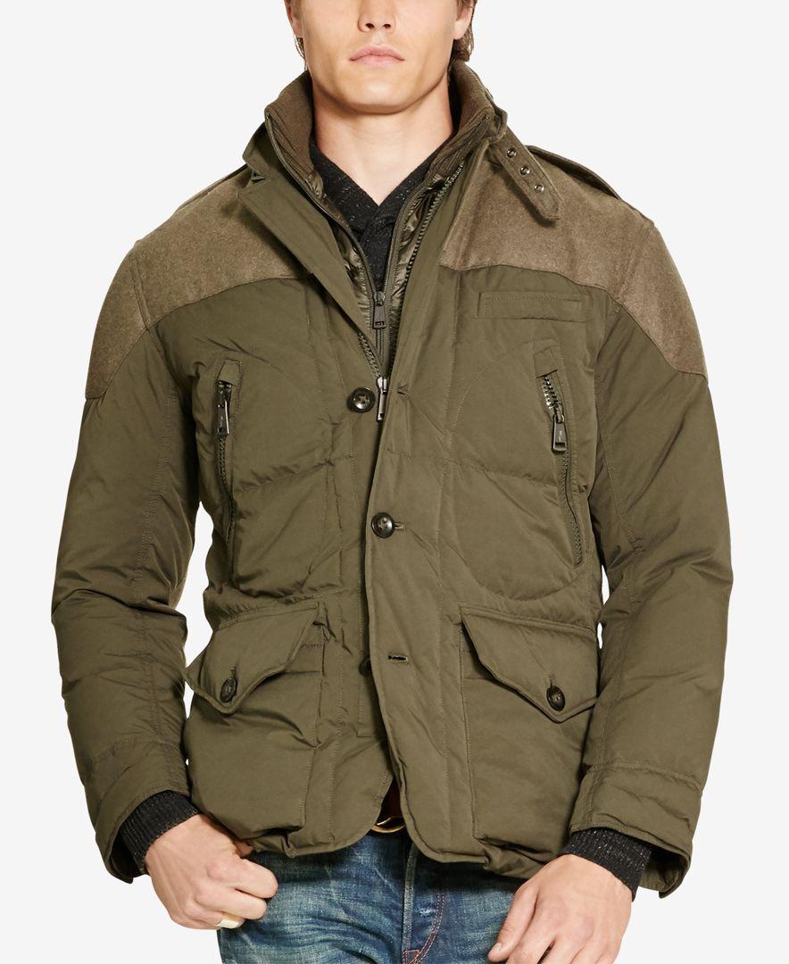 821cfa20ca5 Polo Ralph Lauren Men s Paneled Down Coat