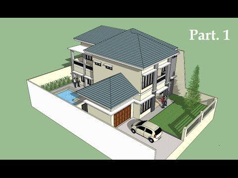 Sketchup Tutorial House Building Part 1 Building A House Duplex House Design Floor Plan App