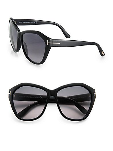 Tom Ford Eyewear - Angelina Oversized Acetate Sunglasses - Saks.com