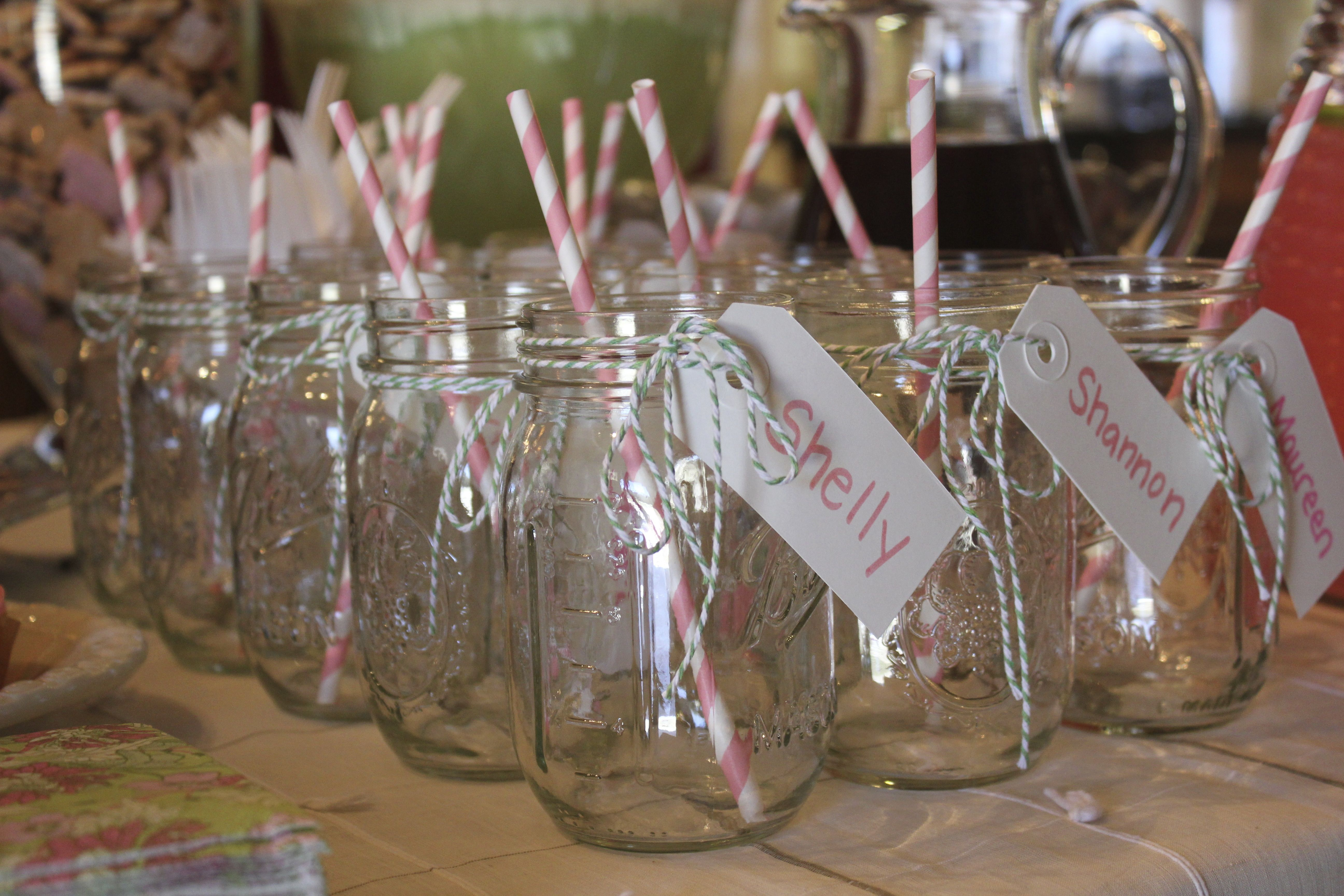 Mason jar glasses/favors for baby shower. | My Pinterest ...