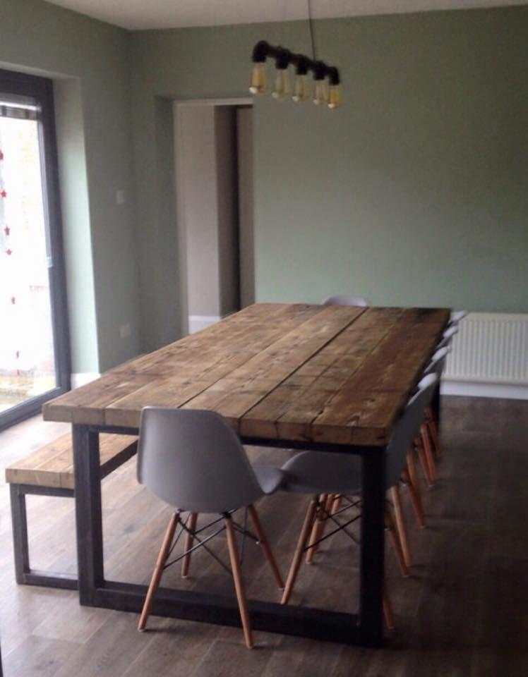 Esstisch Industrial esstisch holz stahl steel furniture designs house