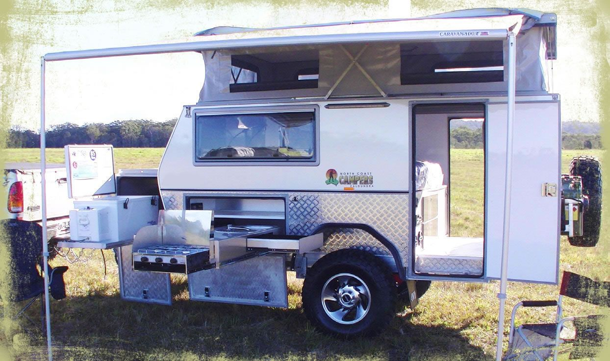 Off Road Camping Trailers 12 Ft St Camper Trailer Northcoast Campers Man Austrailia