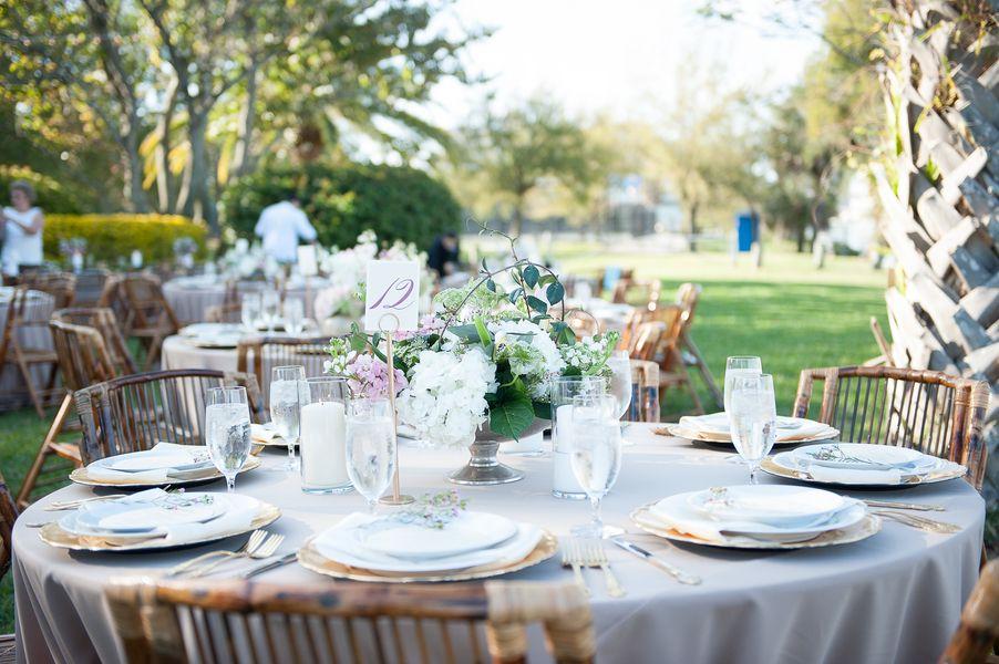 Lavender and purple themed wedding. tampa wedding venue. Garden ...