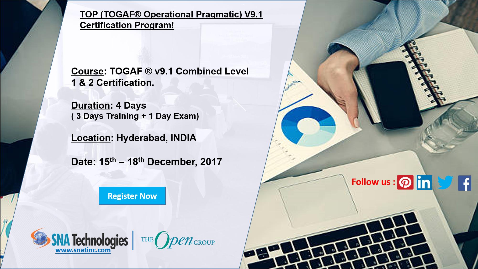 Togaf V91 Certification Program In Hyderabad India For More