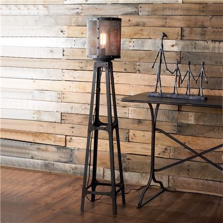 Industrial Tower Floor Lamp