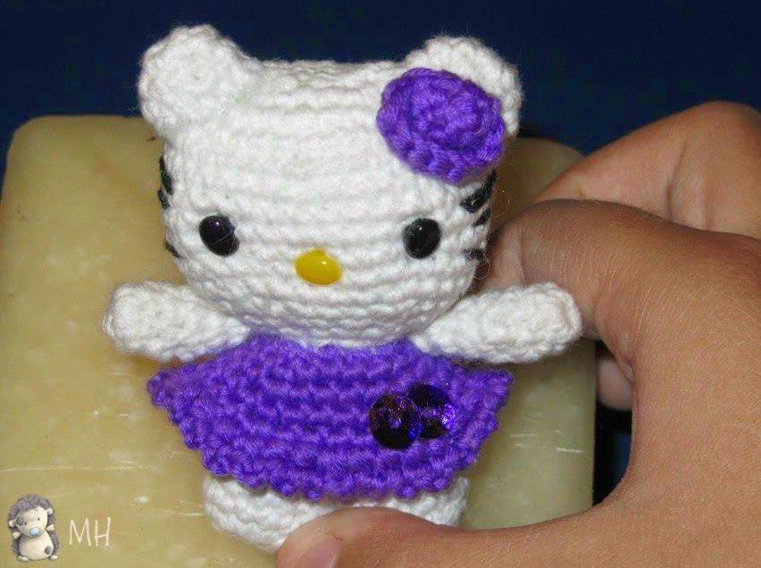 Gato Amigurumi Llavero : Llavero kitty amigurumi amigurumis llaveros