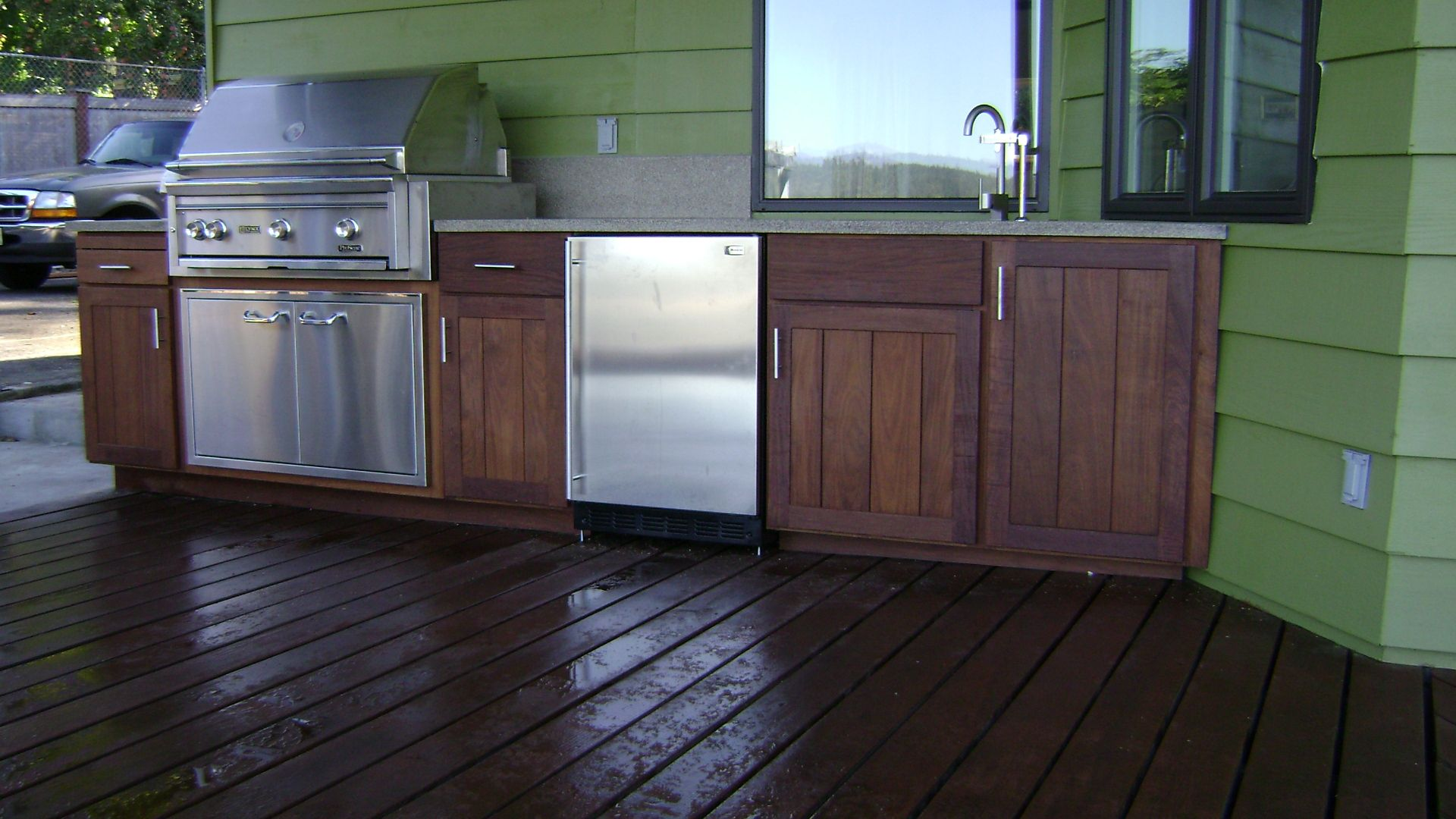 This Will Make Him Very Happy Built In Bbq Backyard Home Decor
