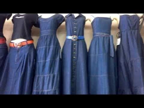Vestidos en jeans largos