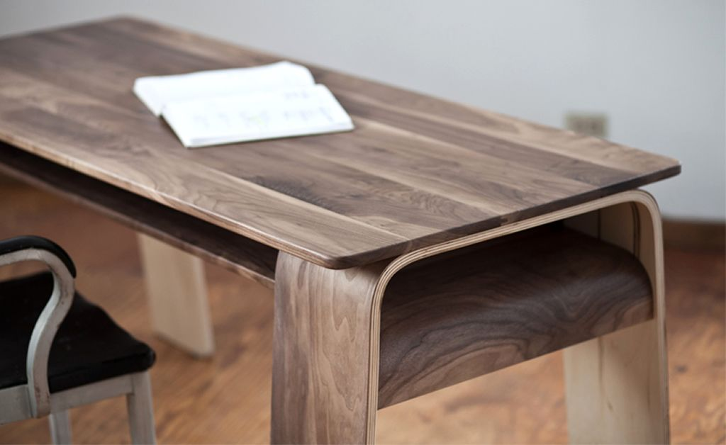 Bent Plywood Furniture Design Of The Horsey Desk By Office