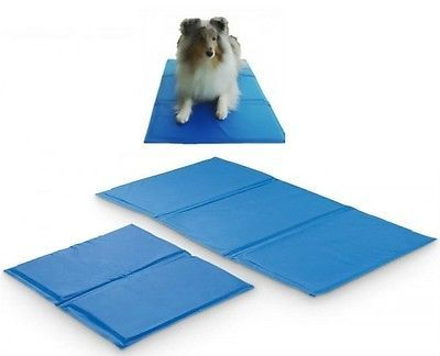 Pet Cooling Gel Mat for Dogs naturally stays cooler than