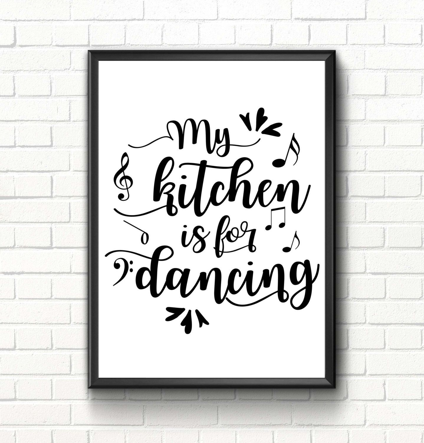 kitchen wall art kitchen quote inspirational art print my kitchen is for dancing kitchen on kitchen quotes printable id=16439