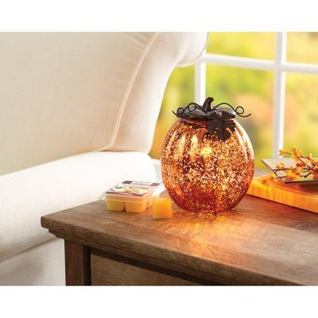 Better Homes And Garden Full Size Warmer Glass Pumpkin