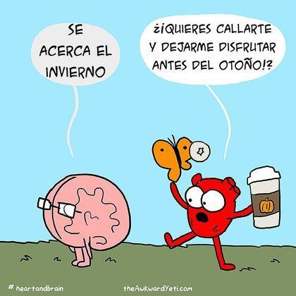 Este cómic muestra la batalla del corazón contra el cerebro - Taringa!