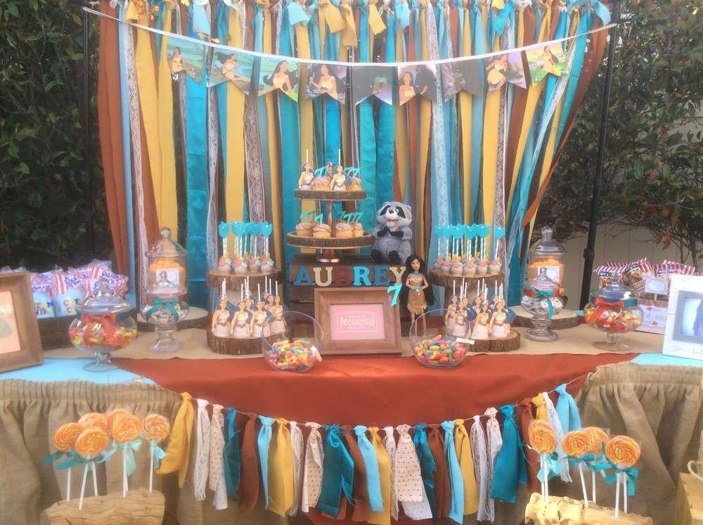 Pocahontas Birthday Party Ideas In 2019 Princess Party Ideas