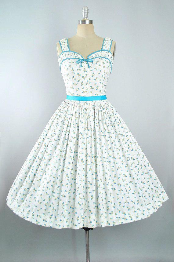 Medium Vintage 1950s Novelty Ship Print Dress