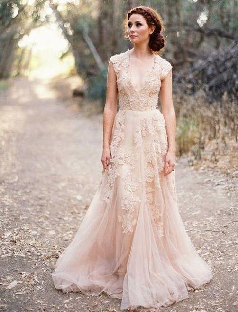 25 vestidos de novia rosados | casamiento | pinterest | garden