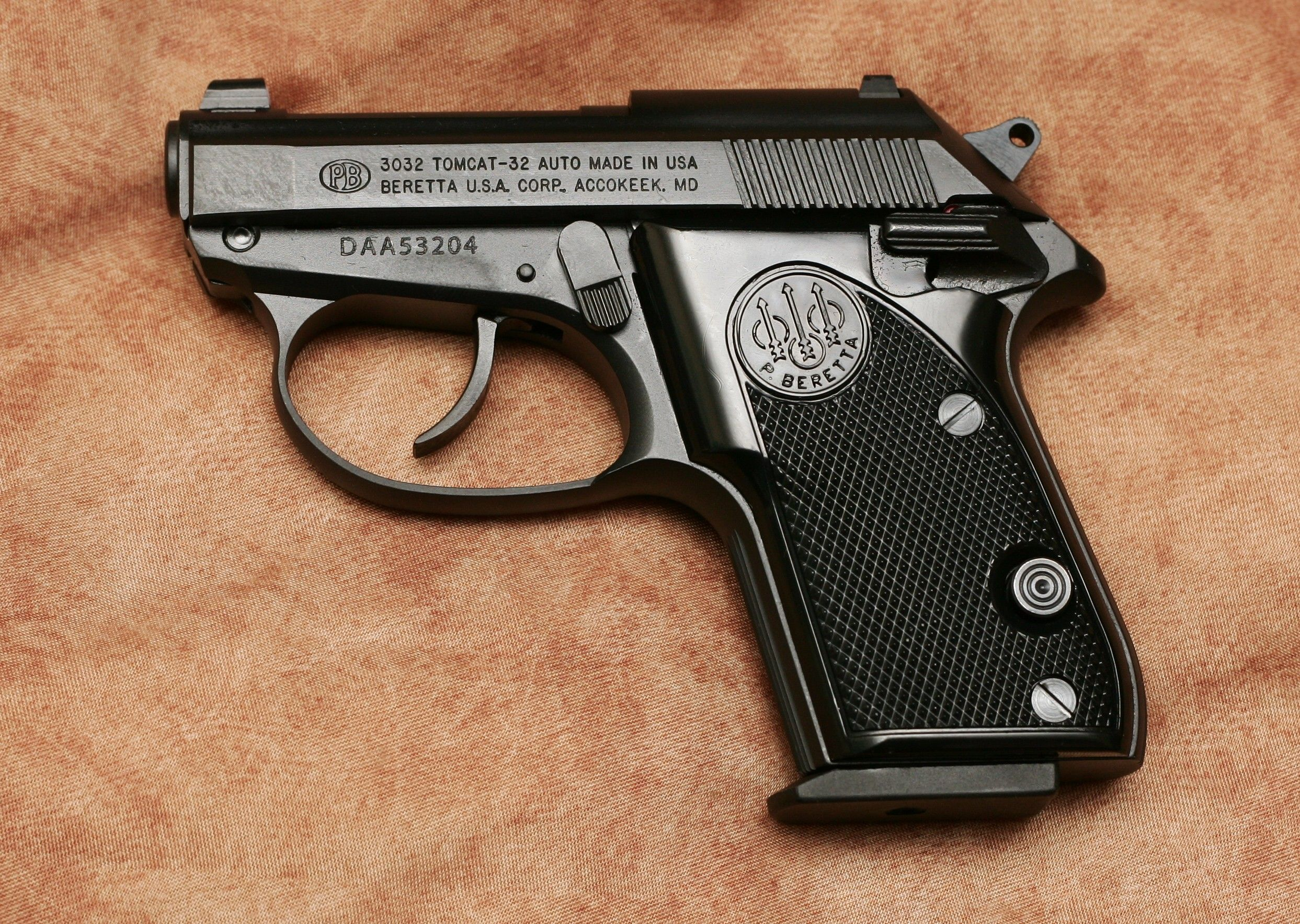 My  32 ACP Beretta Tomcat with XS sight  | My Firearm Related Photos