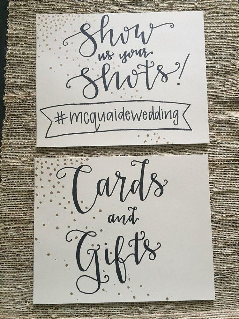 Bliss Blog Bliss Lettering Wedding hashtag sign