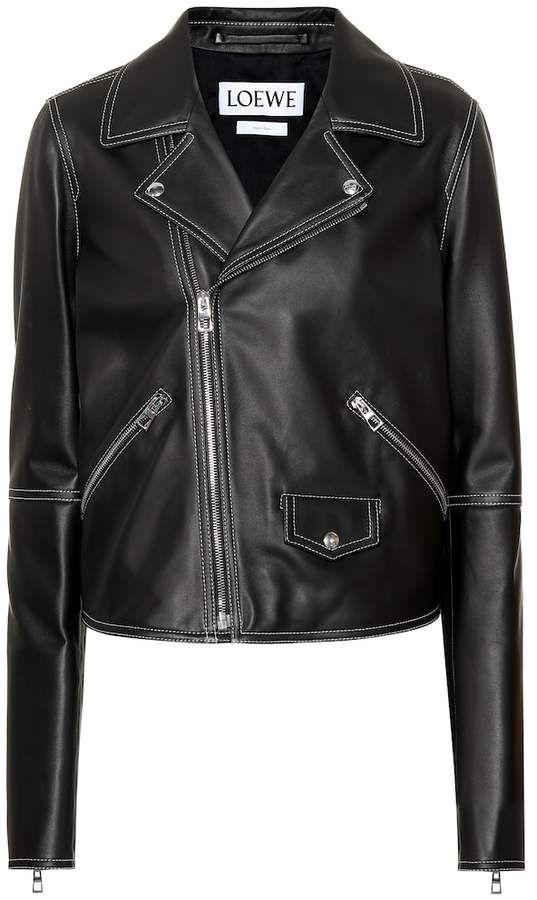 Loewe Leather Biker Jacket Biker Jacket Jackets Leather Biker Jacket