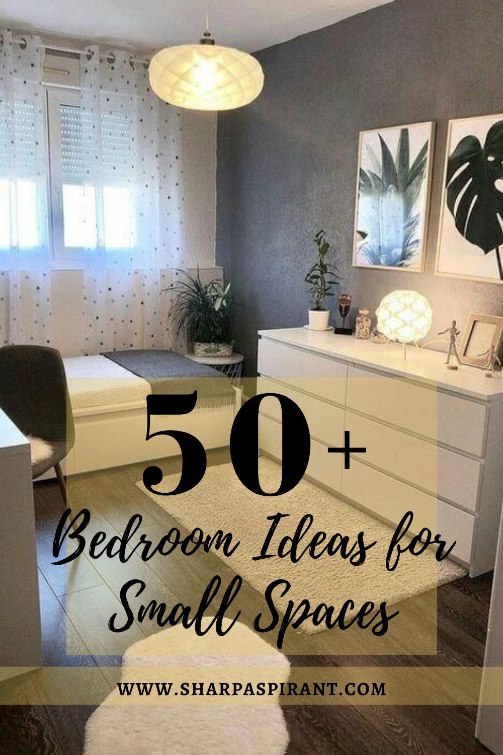 60 Awesome Bedroom Ideas For Small Spaces Sharp Aspirant In 2020 Awesome Bedrooms Small Bedroom Layout Small Spaces #sleeping #in #the #living #room #ideas