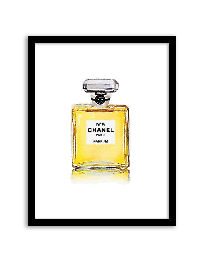 Free Printable Perfume Bottle Art from @chicfetti - easy wall art ...