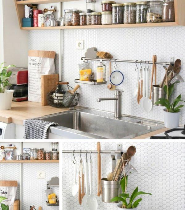 Crédence Cuisine en 47 PHOTOS  Idées, Conseils  Inspirations - adhesif pour plan de travail cuisine