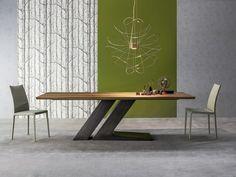 rechteckiger esstisch mit holzplatte - table tl von bonaldo | meja, Esstisch ideennn