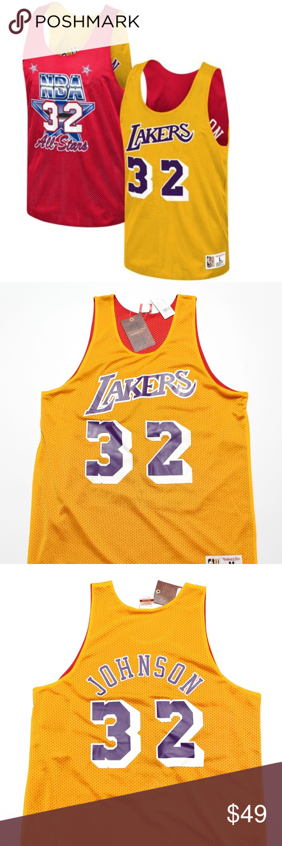 Lakers Magic Johnson All Star Reversible Jersey Magic Johnson All Star Clothes Design