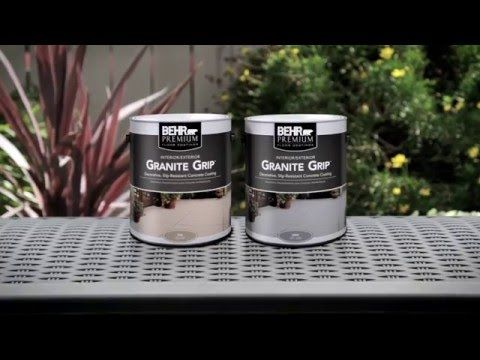 How To Apply Behr Premium Granite Grip Youtube Do It Yourself