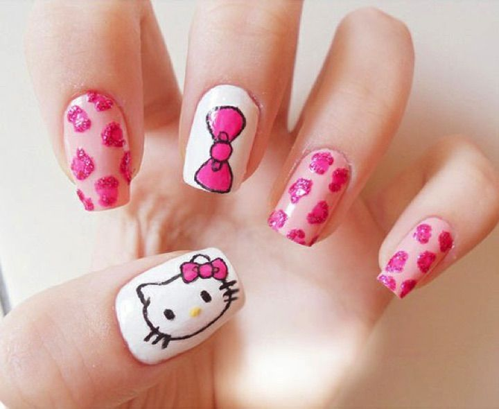 14 Hello Kitty Nails That Are Simply Too Adorable. #11 Looks Cute ...