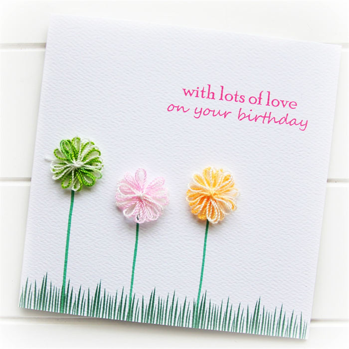 Handmade Birthday Cards For Her Happy Birthday Card For Her Cotton