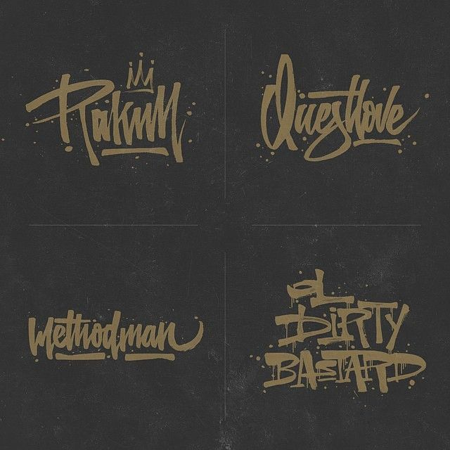 Wu Tang by 365ofhiphop #lettering #script #typography #type #brush #handlettering #visual #design