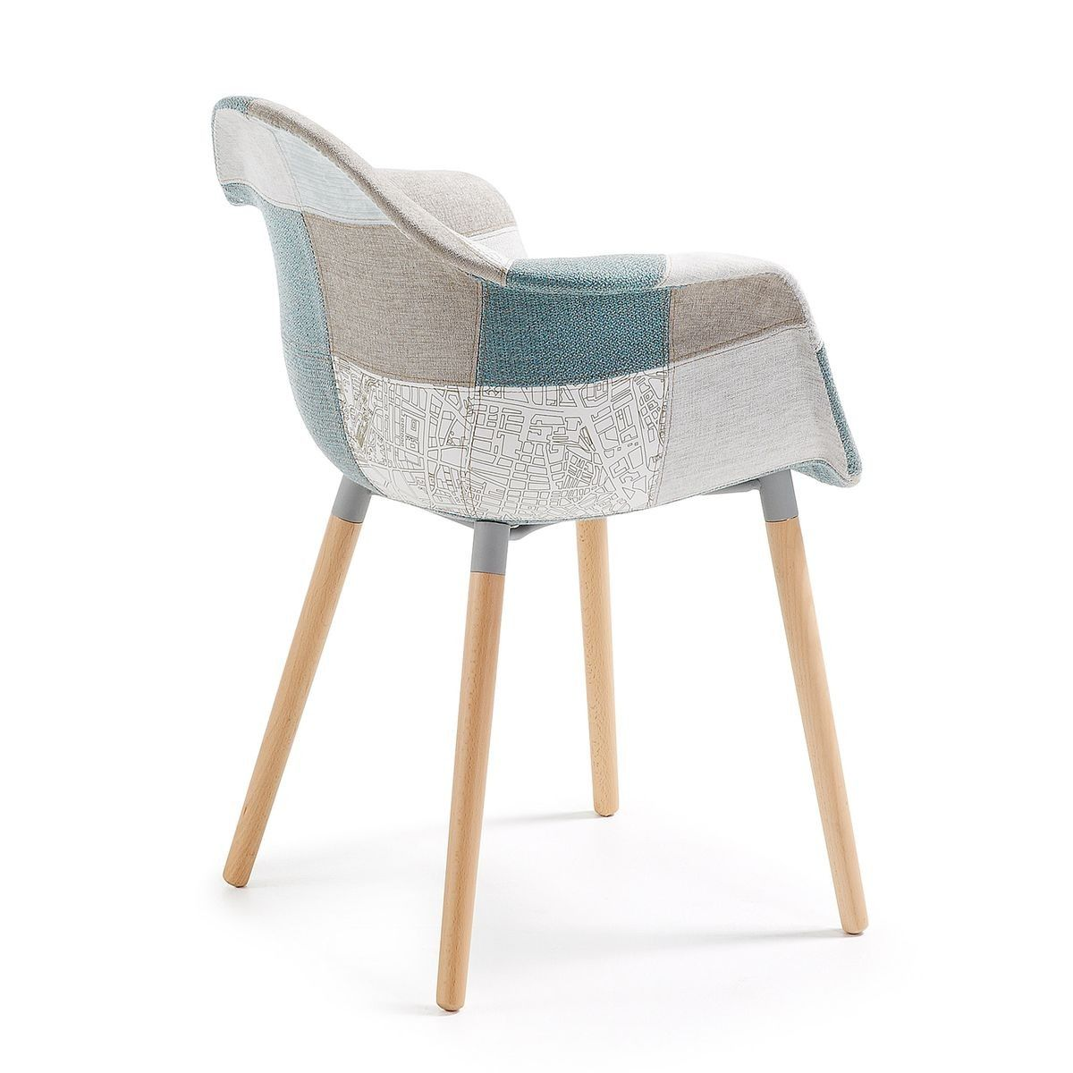 Chaise Kevya Patchwork Bleu Taille : Taille Unique