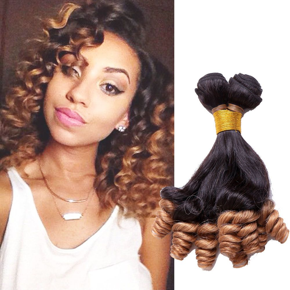 Au Fashion Ombre Funmi Curly Real Human Hair Extension 1b27 Grade